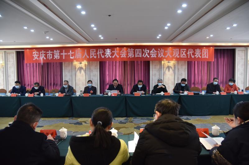安庆市十七届人大四次会议大观代表团会议召开