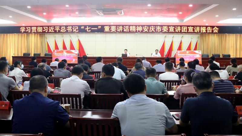 大观区召开区委理论中心组学习(扩大)会议